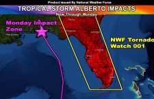 First Tropical Impact:  Tropical Storm Alberto To Hit Florida Coast Through Monday; NWF Tornado Watch Issued