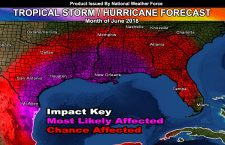 June 2018 Tropical Storm or Hurricane Impact Forecast