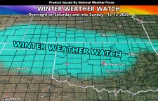 Winter Weather Watch Issued For Texas Panhandle and Parts of Oklahoma and Kansas Overnight on Saturday and into Sunday
