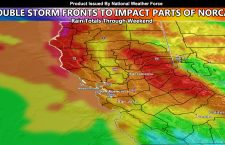 Double Storm Front To Impact Northern Half of California Later Today Through The Weekend; Zoom-in Rainfall Model Included