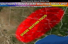 Monitoring Severe Weather Event Start For End Month into Beginning March 2021 For Texas, Oklahoma, Arkansas, and Parts of Louisiana