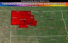 NWF Tornado Watch Issued For Northwestern Half of North Dakota; June 10, 2021