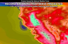 WARNING:  Record Breaking Heatwave Projected Starting Next Weekend For California's Central Valley With 120+F Temperatures Under Strong Ridge