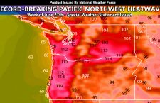 WARNING: Record Breaking Heatwave Projected Starting This Weekend For The Pacific Northwest With Temperatures Over 105-110+ Projected On Average