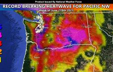 WARNING:  Record Breaking Heatwave To Impact Pacific Northwest Week of June 27th, 2021; Seattle and Portland To Smash All Time Record Temperatures With Palm Springs Weather