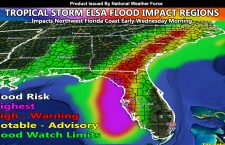 Tropical Storm Elsa Flood Impacts For Southeast United States Starting Tuesday and Going Through Thursday